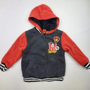 Mickey Mouse Sherpa Hooded Full Zip Sweatshirt XS